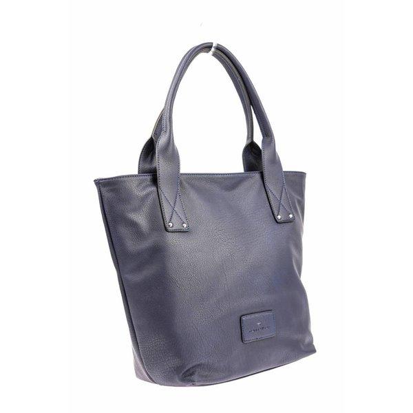 Tijdloze shopper blauw dames