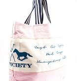 HV Society Leuke veelzijdige roze canvas shopper