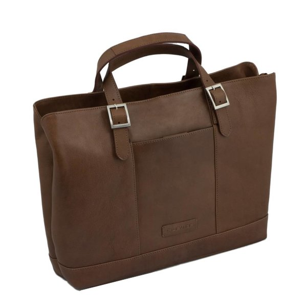 Laptoptas cognac 15.6 inch dames