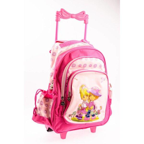 Roze trolley/tas voor meisjes