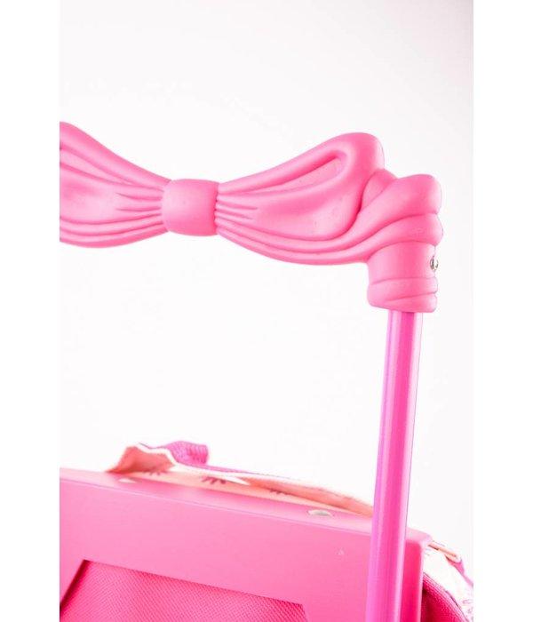 Stefano Leuke Roze trolley/tas voor meisjes