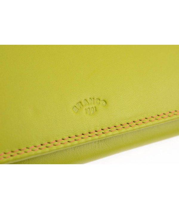 Branco Lederwaren Groene dames portemonnee kleurrijk