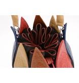 Bylin Unieke croco tulp tas meerdere kleuren
