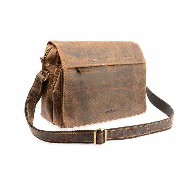 Vintage schoudertas bruin