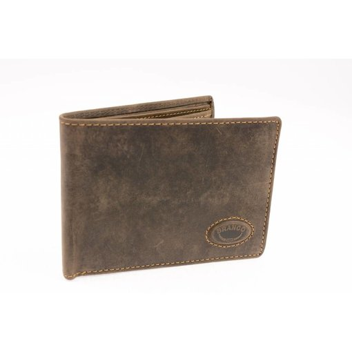 Branco Lederwaren Vintage portemonnee heren bruin