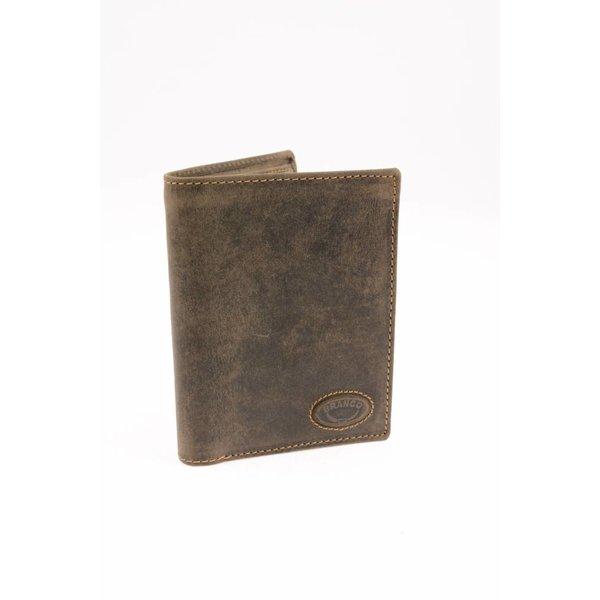 Vintage portemonnee heren bruin verticaal