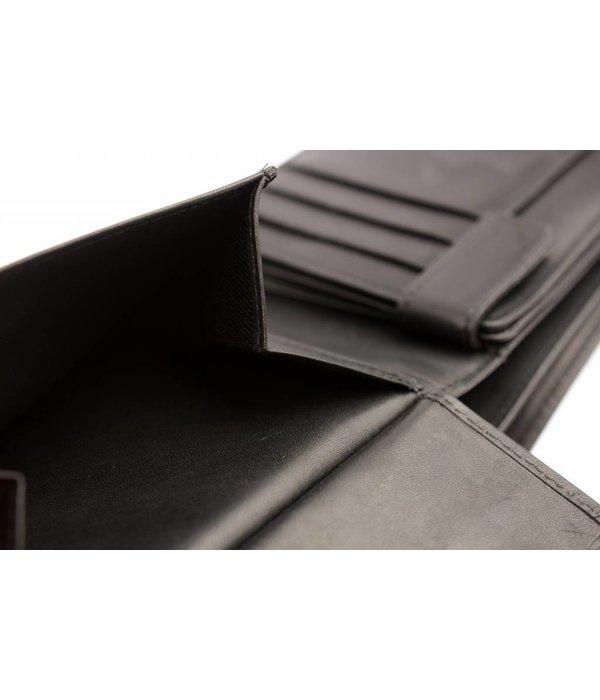 Branco Lederwaren Duurzame vintage heren portemonnee