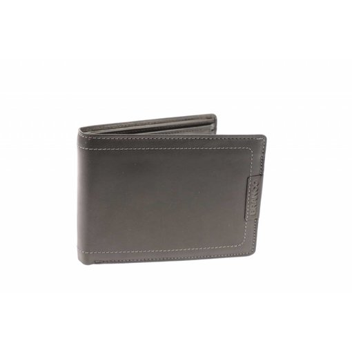 Branco Lederwaren Duurzame vintage portemonnee heren zwart
