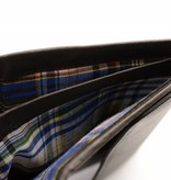 Branco Lederwaren Bruine praktische heren portemonnee verticaal formaat
