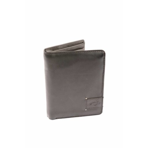 Branco Lederwaren Praktische portemonnee heren bruin verticaal