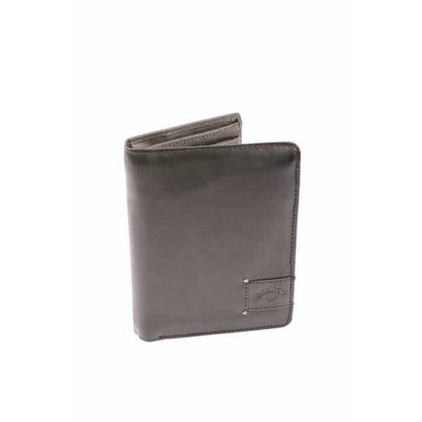 Praktische portemonnee heren bruin verticaal
