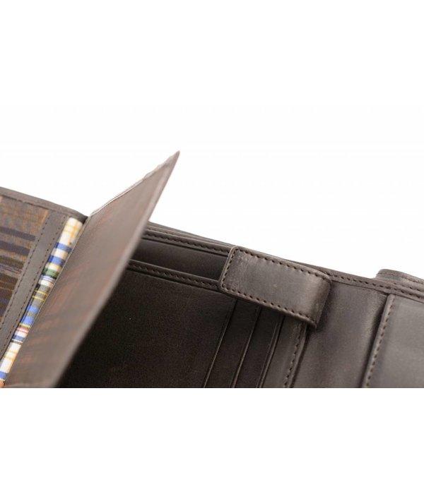 Branco Lederwaren Bruine praktische heren portemonnee