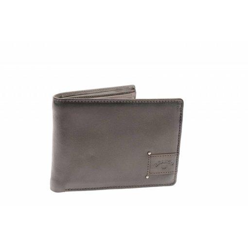 Branco Lederwaren Praktische portemonnee heren bruin