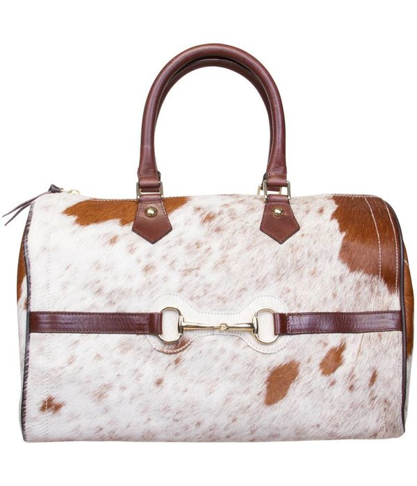 HV Society Speedy gaja bag natural cow dames handtas van Hv society