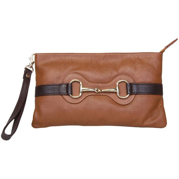 Clutch mouthy cognac dames