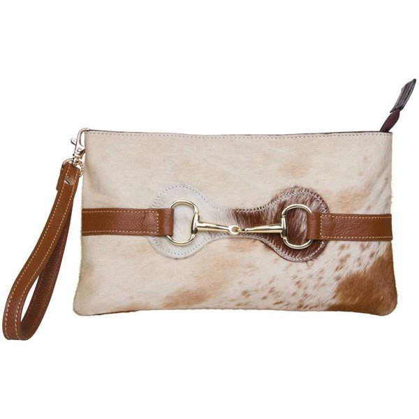 Clutch Zoe natural cow dames