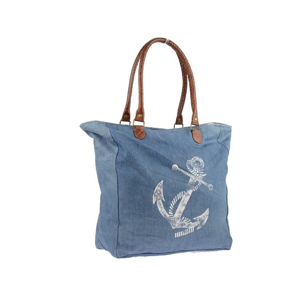 Canvas schoudertas Sail Away Denim