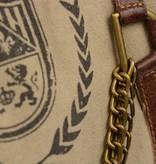 Mona-B Crown canvas beige schoudertas van Mona B