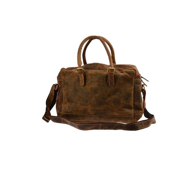 Vintage Club-bag schoudertas bruin