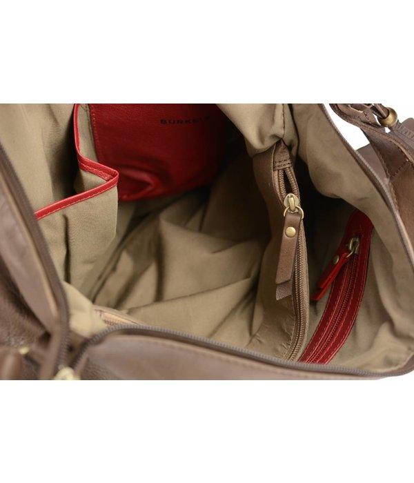 Burkely Melany bag big xover zip front schoudertas moor