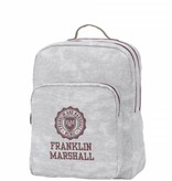Franklin & Marshall hippe grijze rugtas met donkerrode details groot