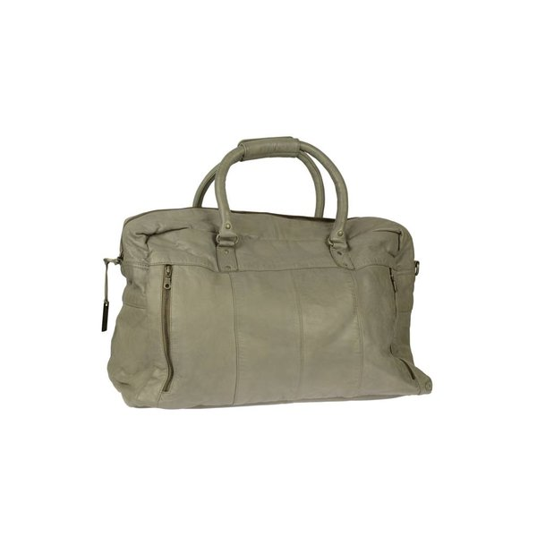 moderne leren summer grey travel bag