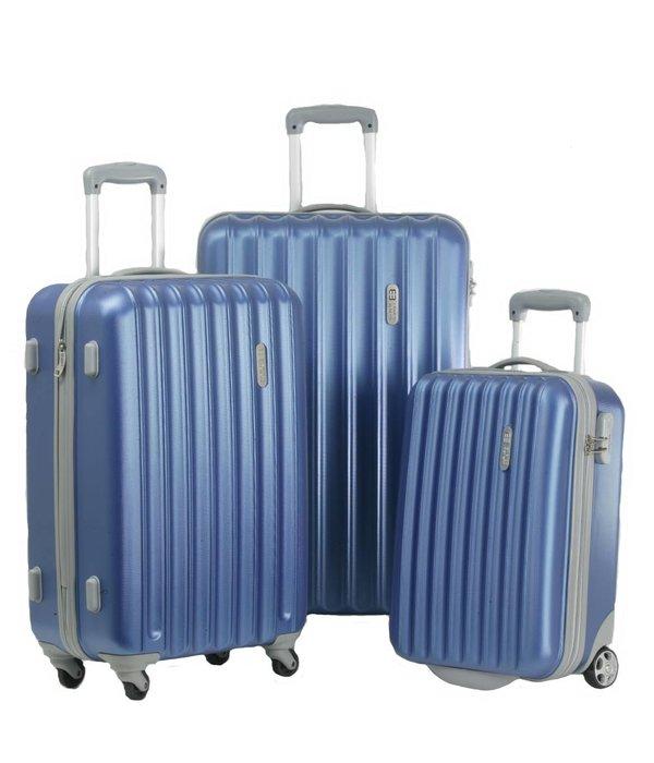 Enrico Benetti 3-delig hardcase kofferset in de kleur blauw