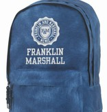 Franklin & Marshall hippe blauwe rugtas met witte letters groot
