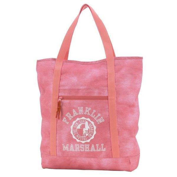 hippe roze shopper met witte letters