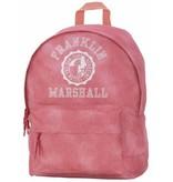 Franklin & Marshall hippe roze rugtas met witte letters klein