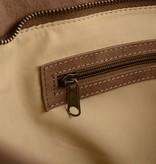 Unleaded Luxe Calgory handtas in taupe kleur
