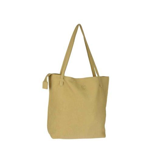 Unleaded Luxe, simpele Zandkleurige Malibu schoudertas