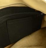Unleaded Luxe, simpele Malibu schoudertas in zand kleur