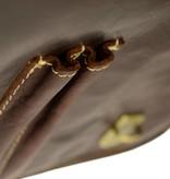 Alpenleder Stoere robuuste aktetas in brandy kleur