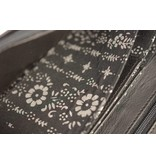 Branco Lederwaren luxe zwarte dames portemonnee met bloem