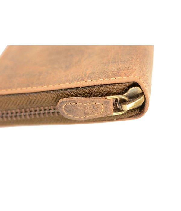 GreenBurry Stoere bruine heren portemonnee