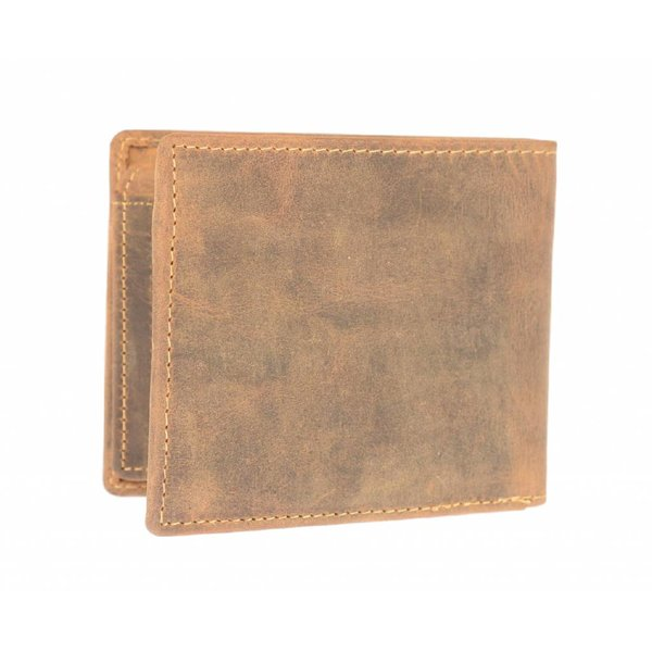 Stoere bruine heren billfold portemonnee