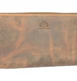 GreenBurry Vintage bruine dames portemonnee handgemaakt