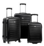 Enrico Benetti 3-delig hardcase kofferset LEXINGTON in de kleur zwart