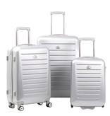 Enrico Benetti 3-delig hardcase kofferset LEXINGTON in de kleur zilver
