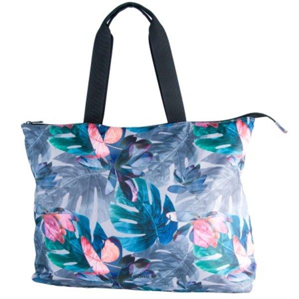 grote vrolijke flower beachbag