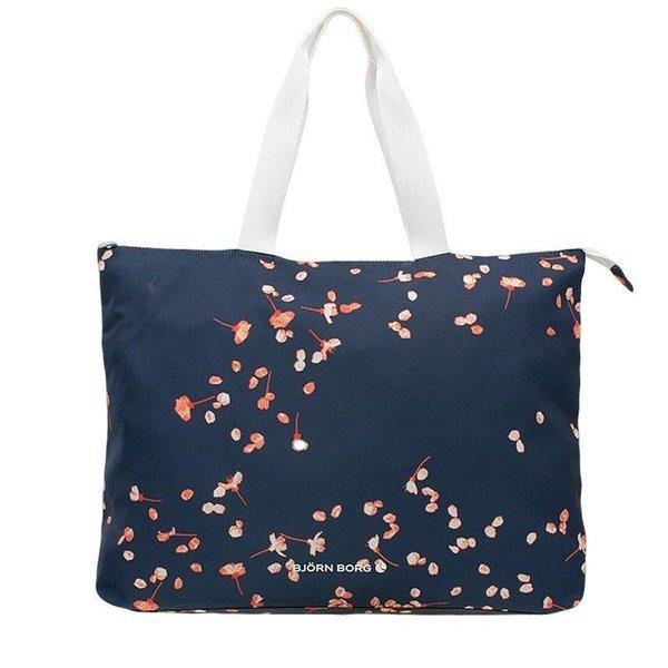 grote vrolijke navy blauwe beachbag
