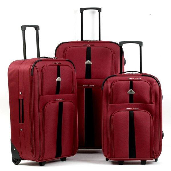 3-delig rood kofferset