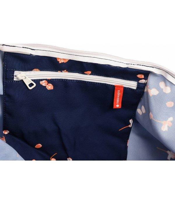 Björn Borg grote vrolijke navy blauwe beachbag