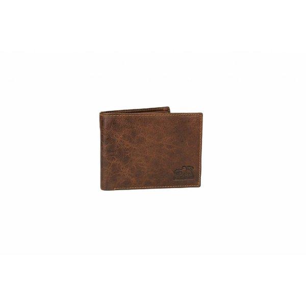 vintage bruine billfold heren portemonnee liggend