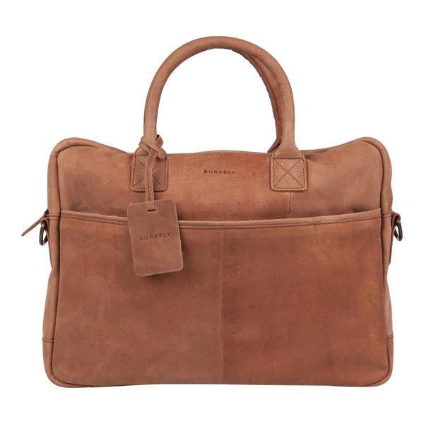 luxe cognac laptoptas Filippa 15 inch