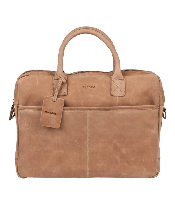 Burkely luxe taupe laptoptas Filippa 15 inch