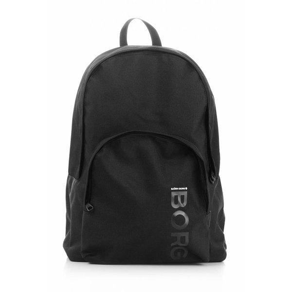 stoere zwarte backpack Core met laptop vak