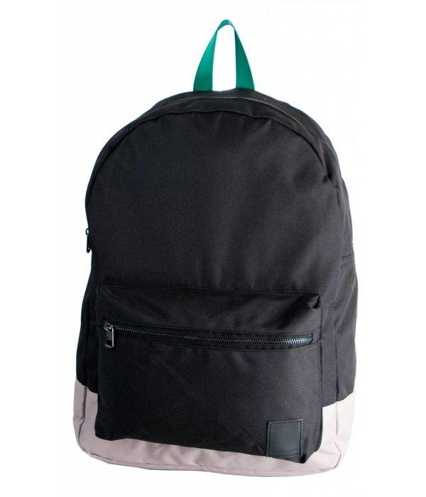 Björn Borg stoere zwarte backpack Charlies Angels met groene details en laptop vak