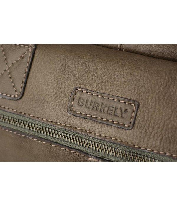 Burkely Vintage business schoudertas met voorvakken in grijze kleur